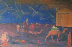 Ангелы сопровождают караван блудного сына. Из серии притчи Иисуса Христа 2003-2011